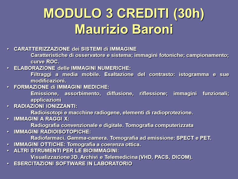 MODULO 3 CREDITI (30h) Maurizio Baroni