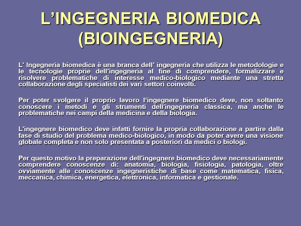 L'INGEGNERIA BIOMEDICA (BIOINGEGNERIA)