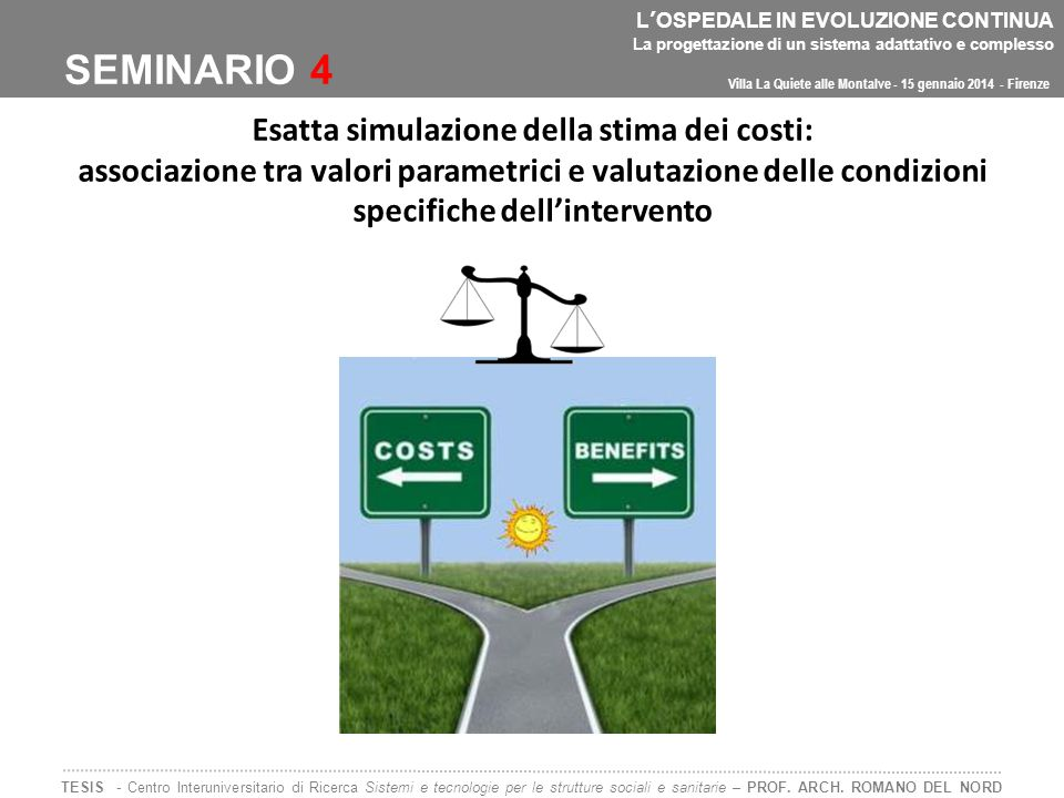 Esatta simulazione della stima dei costi: