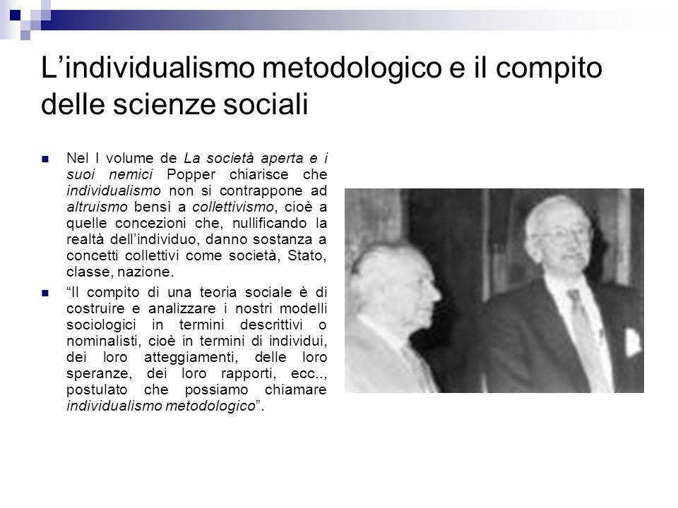 L'individualismo metodologico e il compito delle scienze sociali