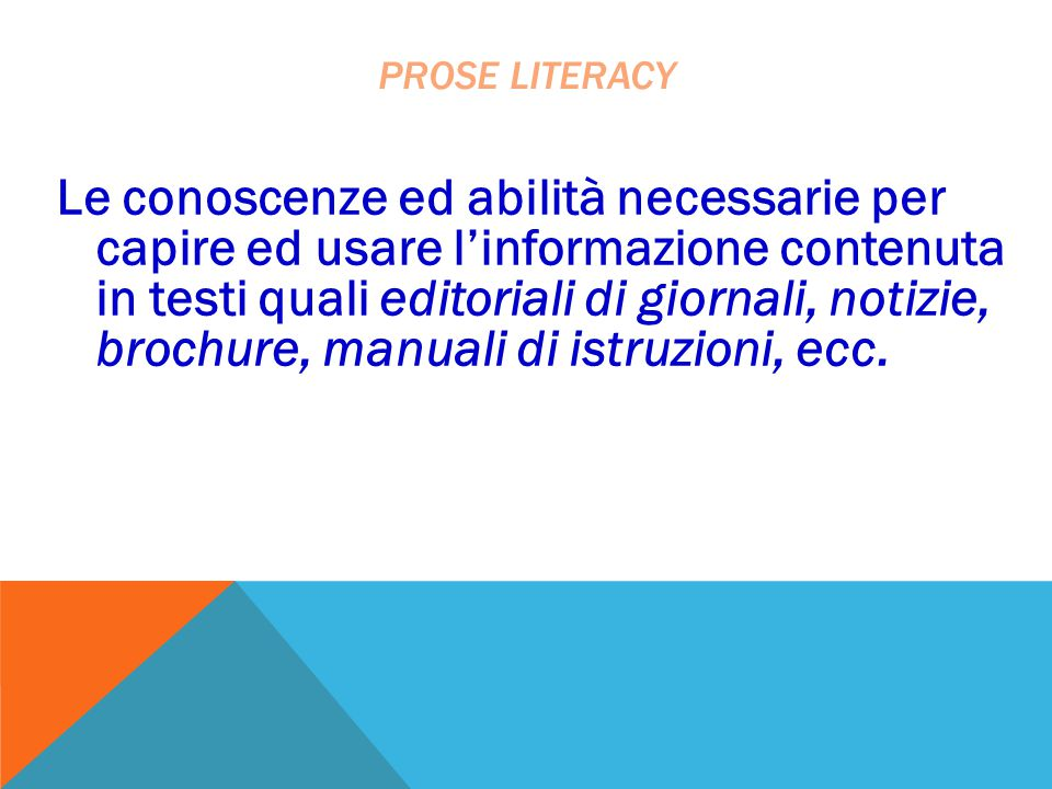 Prose literacy