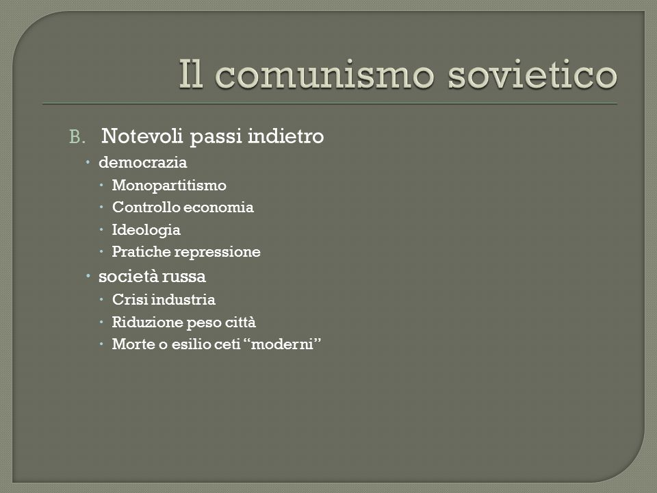Il comunismo sovietico