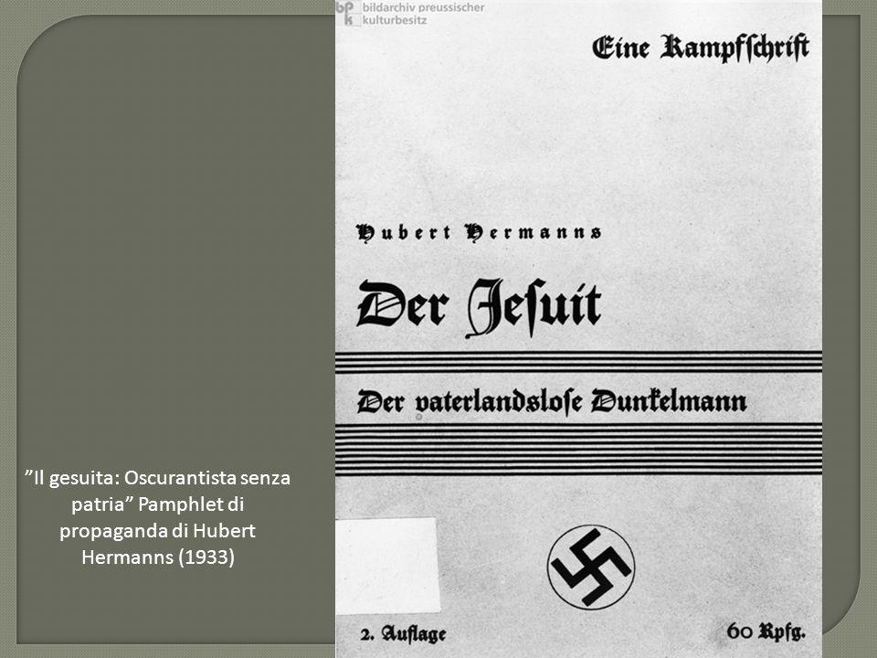 Il gesuita: Oscurantista senza patria Pamphlet di propaganda di Hubert Hermanns (1933)