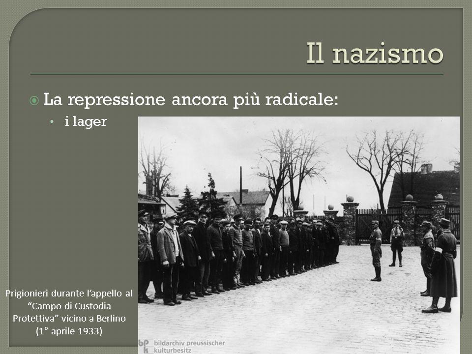 Il nazismo La repressione ancora più radicale: i lager