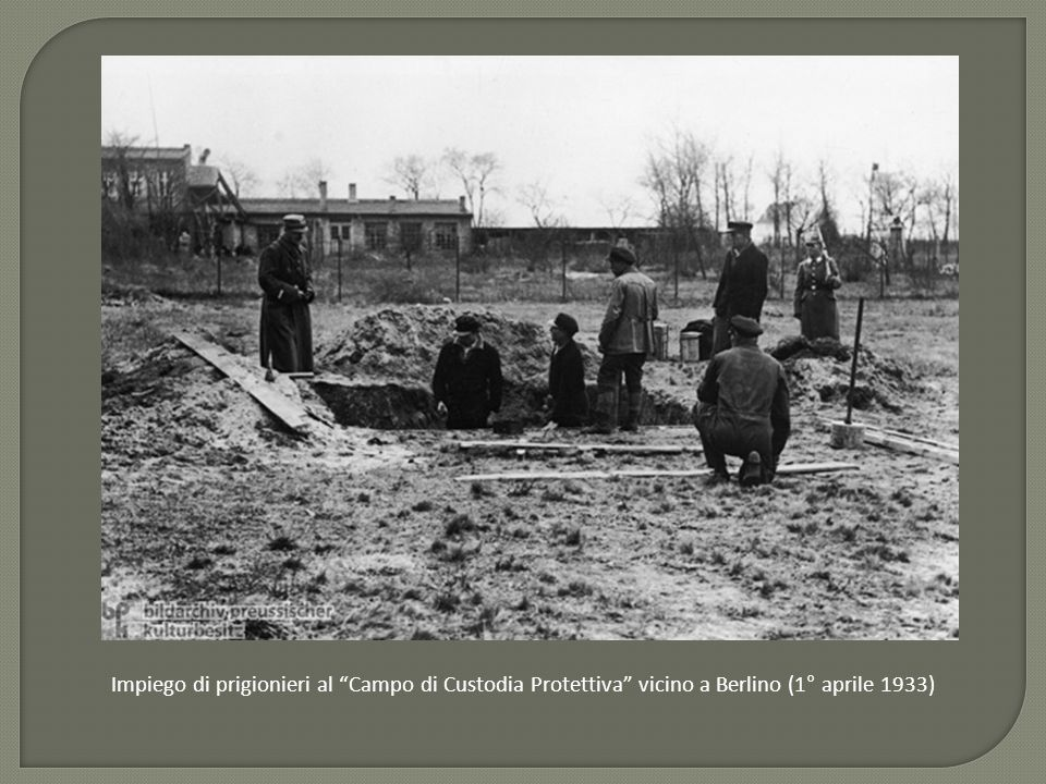Impiego di prigionieri al Campo di Custodia Protettiva vicino a Berlino (1° aprile 1933)
