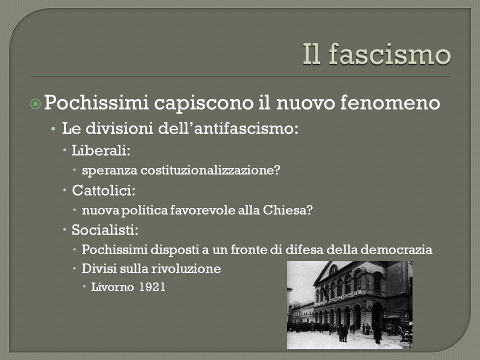 Il fascismo Pochissimi capiscono il nuovo fenomeno