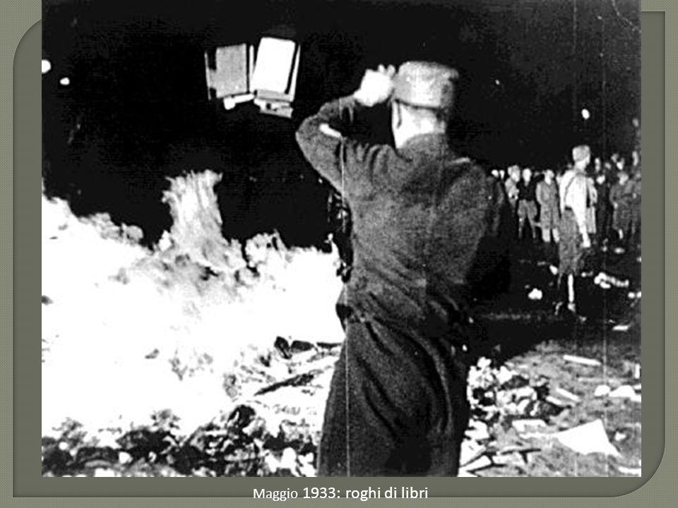 Maggio 1933: roghi di libri