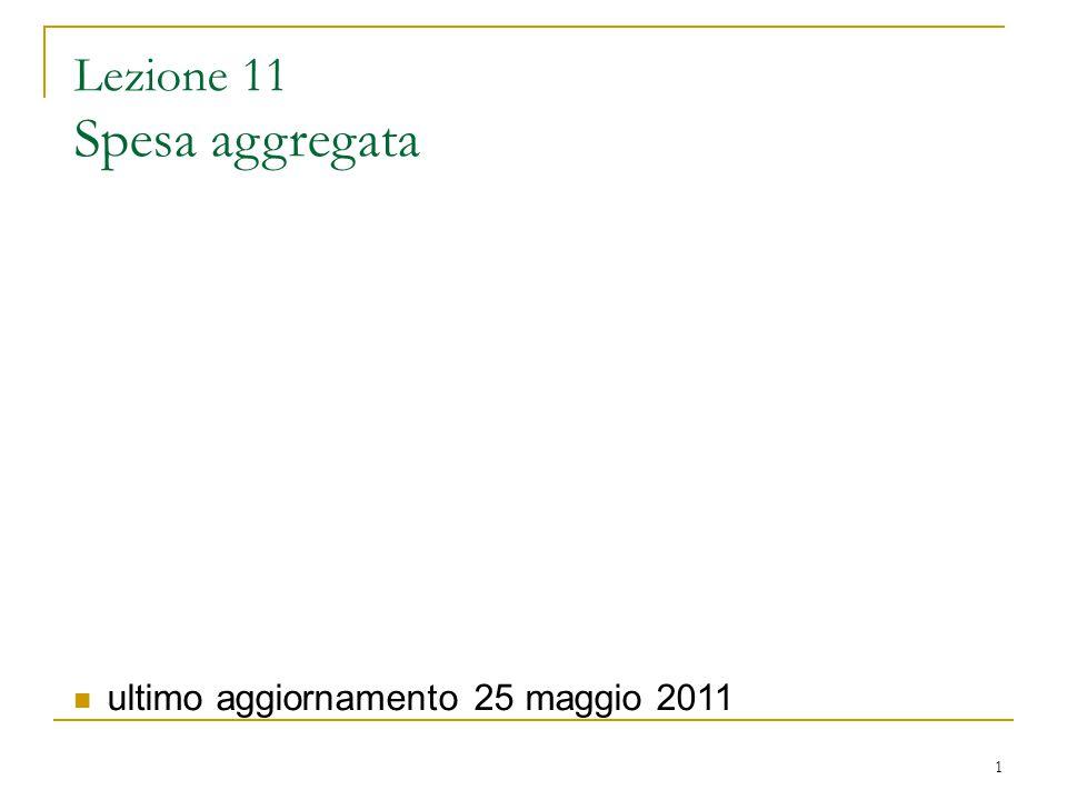 Lezione 11 Spesa aggregata