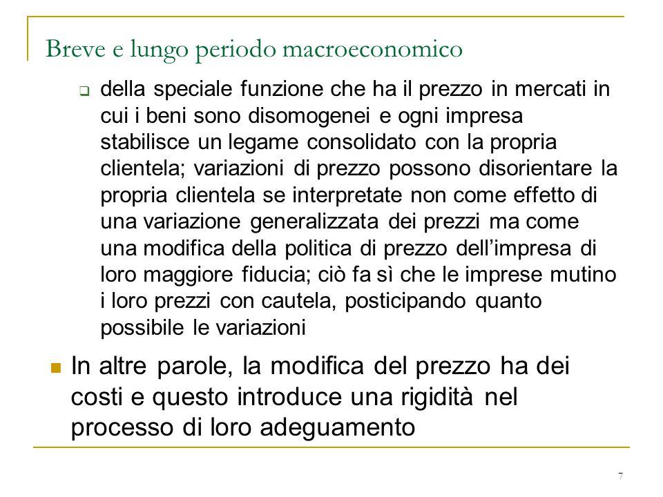 Breve e lungo periodo macroeconomico