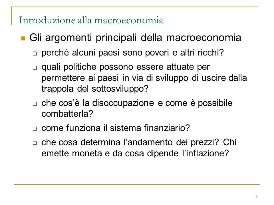 Introduzione alla macroeconomia