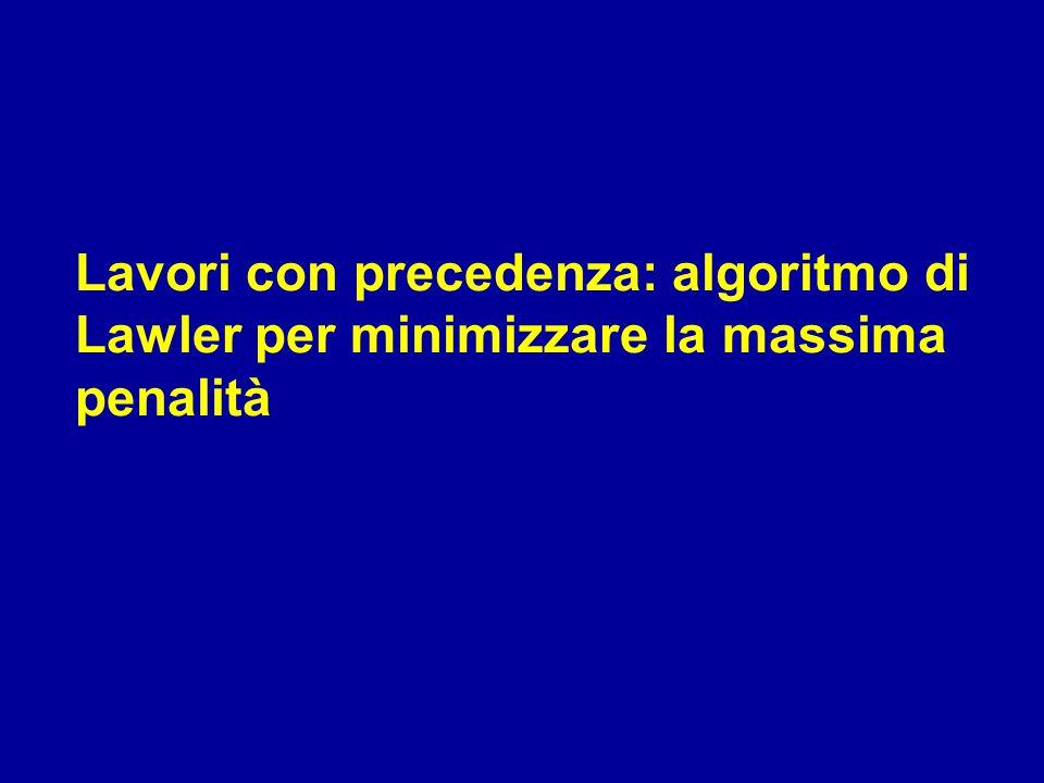Lavori con precedenza: algoritmo di Lawler per minimizzare la massima penalità