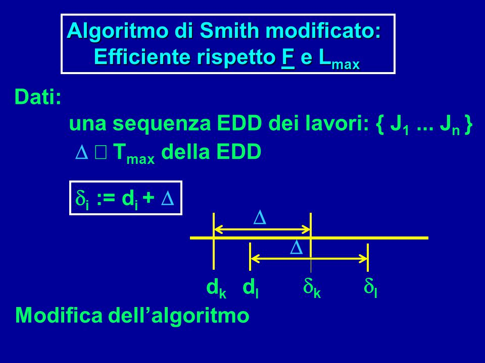Algoritmo di Smith modificato:
