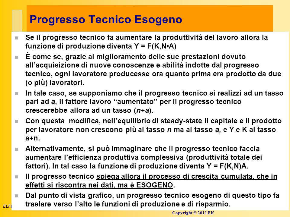 Progresso Tecnico Esogeno 2