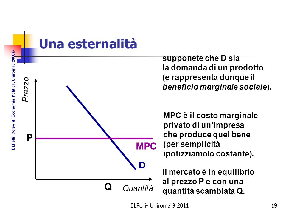 Una esternalità negativa (2)