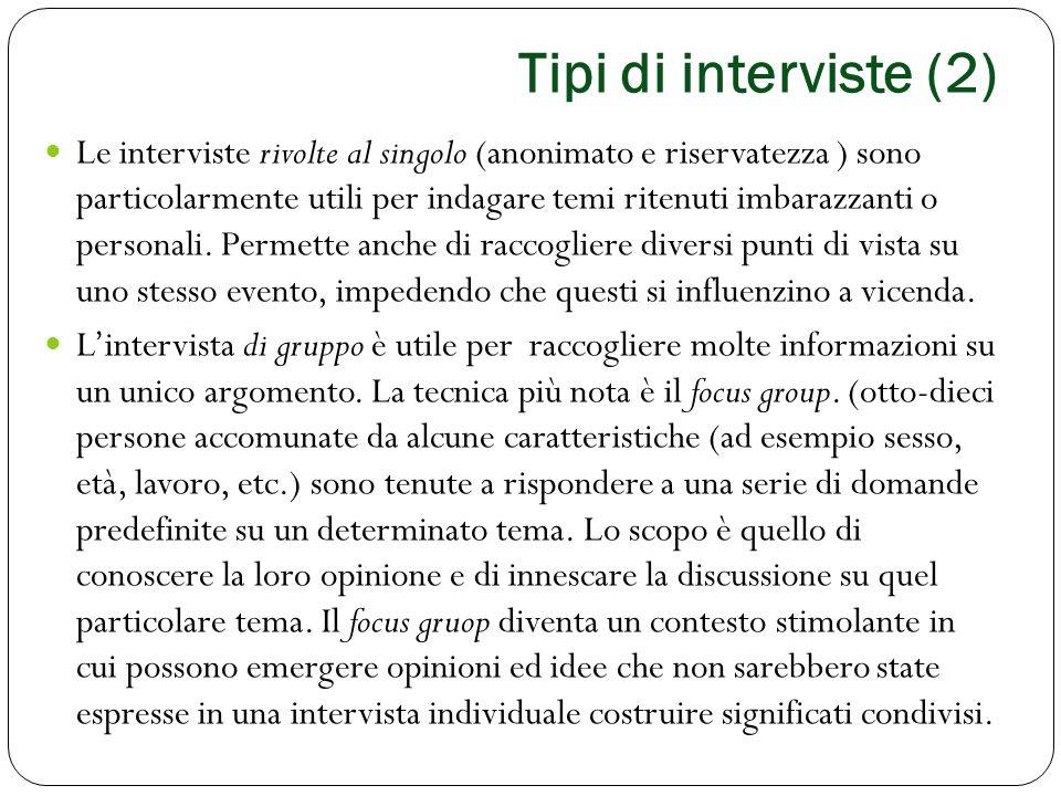 Tipi di interviste (2)