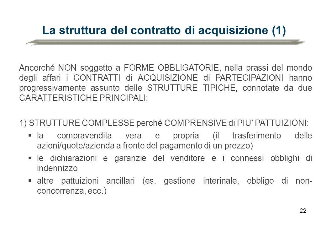 La struttura del contratto di acquisizione (1)