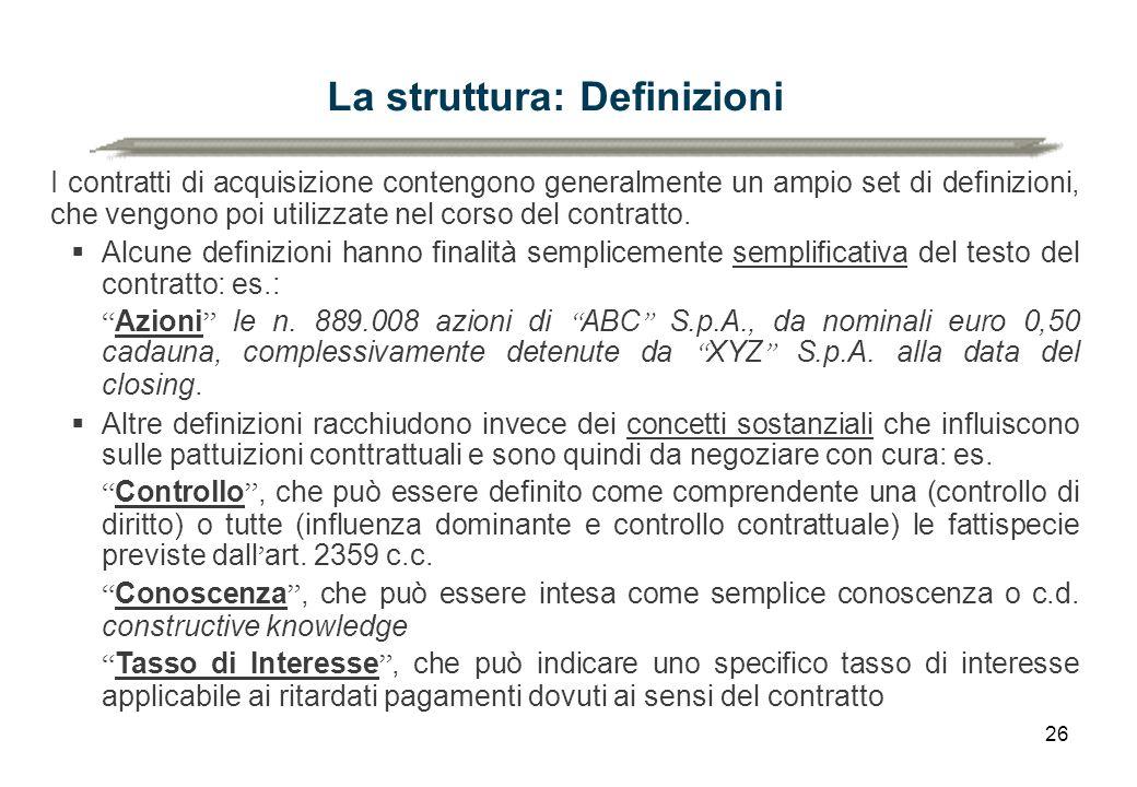 La struttura: Definizioni