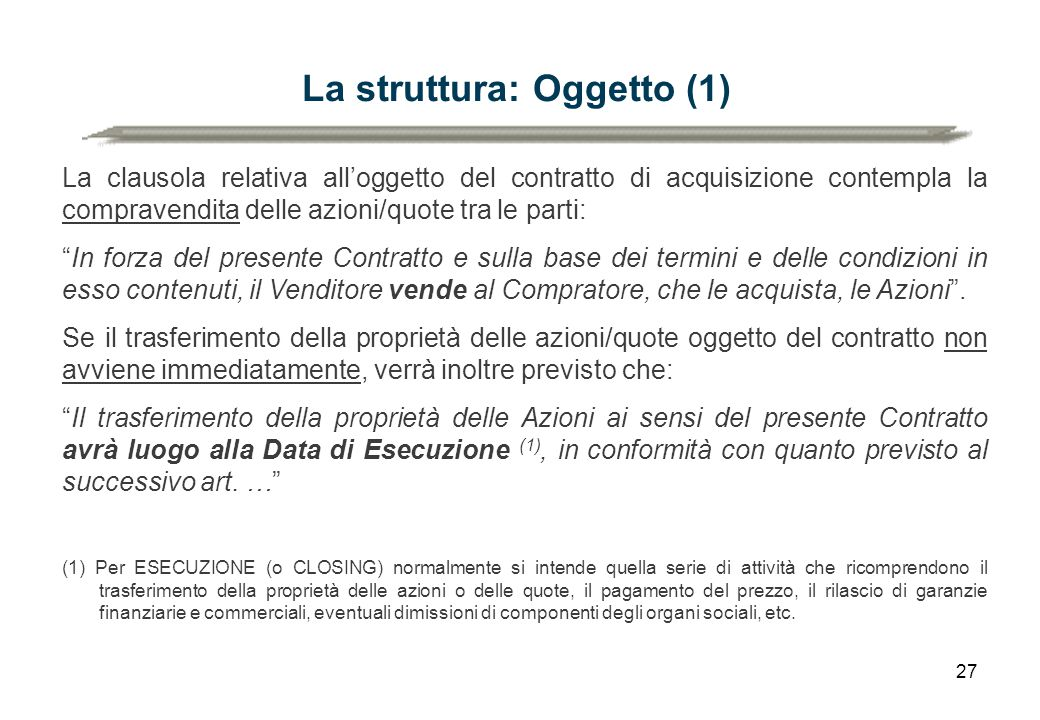 La struttura: Oggetto (1)