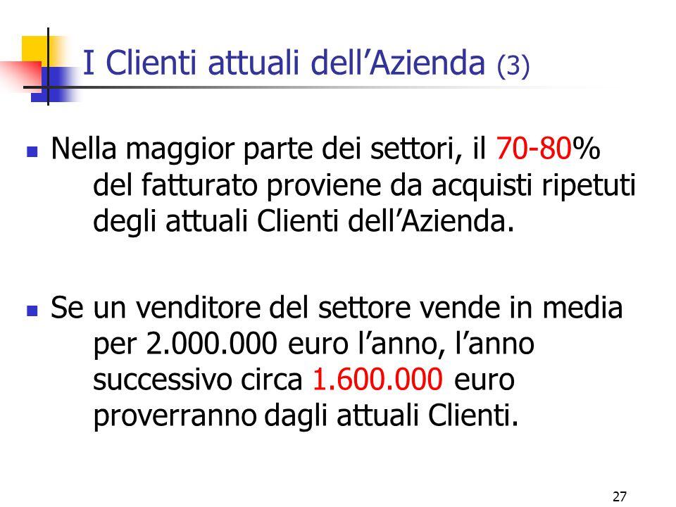 I Clienti attuali dell'Azienda (3)