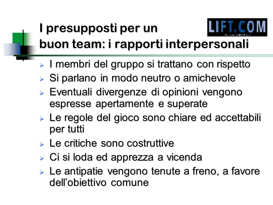 I presupposti per un buon team: i rapporti interpersonali