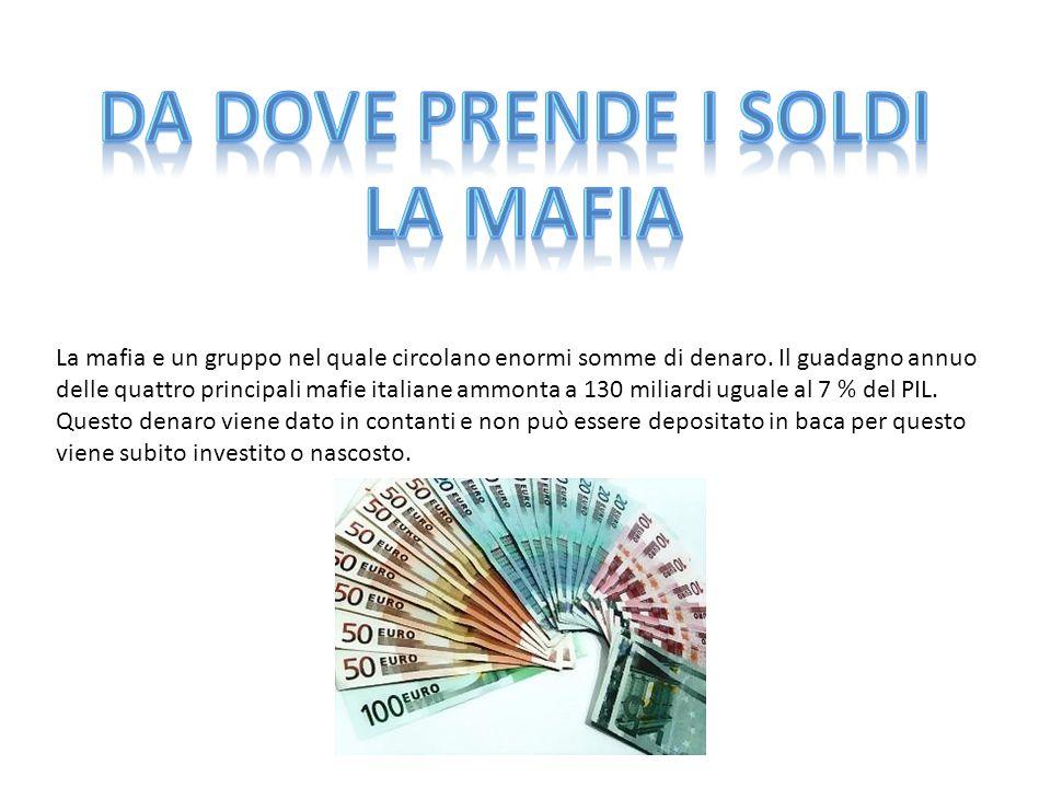 Da dove prende i soldi la mafia