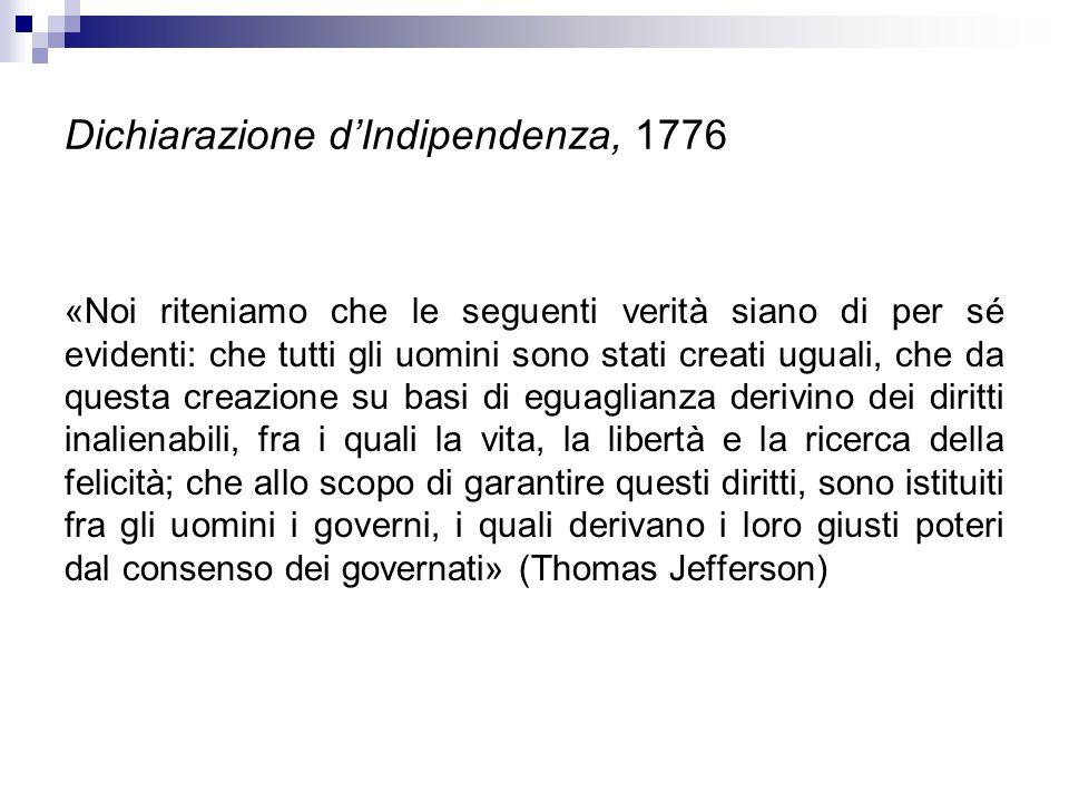 Dichiarazione d'Indipendenza, 1776