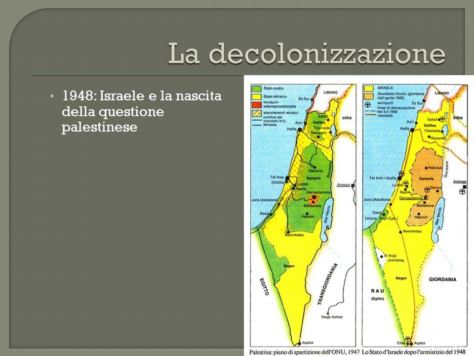 La decolonizzazione 1948: Israele e la nascita della questione palestinese