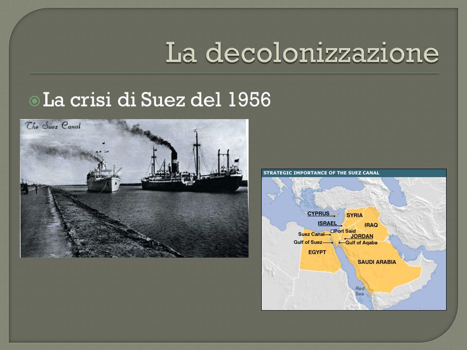 La decolonizzazione La crisi di Suez del 1956