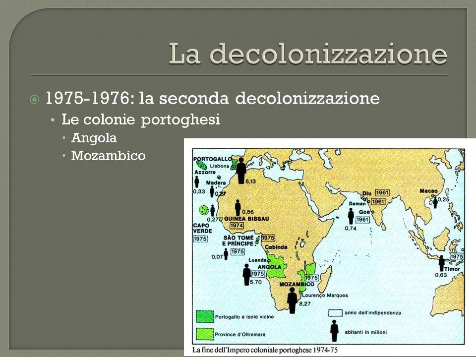 La decolonizzazione 1975-1976: la seconda decolonizzazione