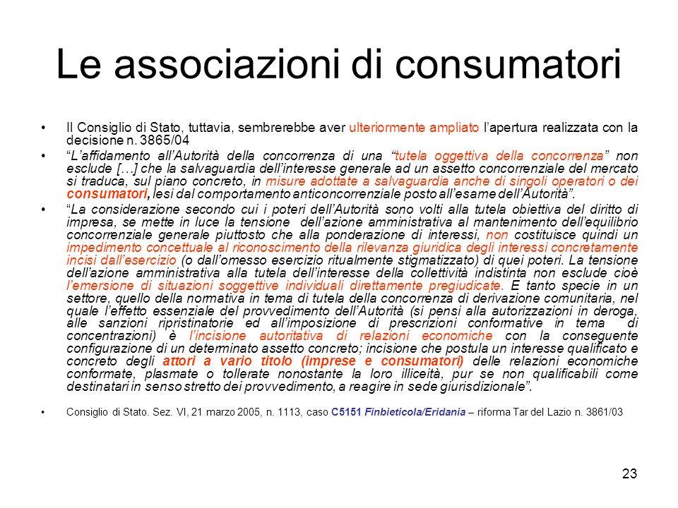 Le associazioni di consumatori