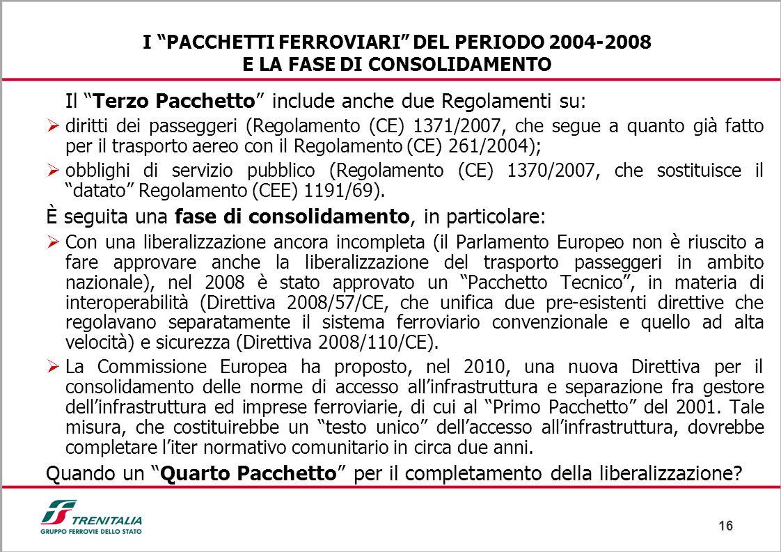 Il Terzo Pacchetto include anche due Regolamenti su: