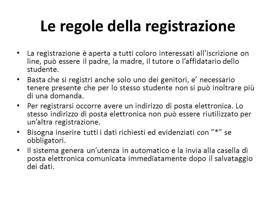 Le regole della registrazione