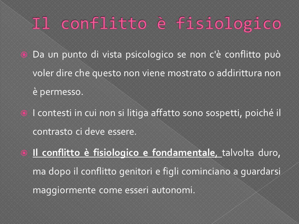 Il conflitto è fisiologico