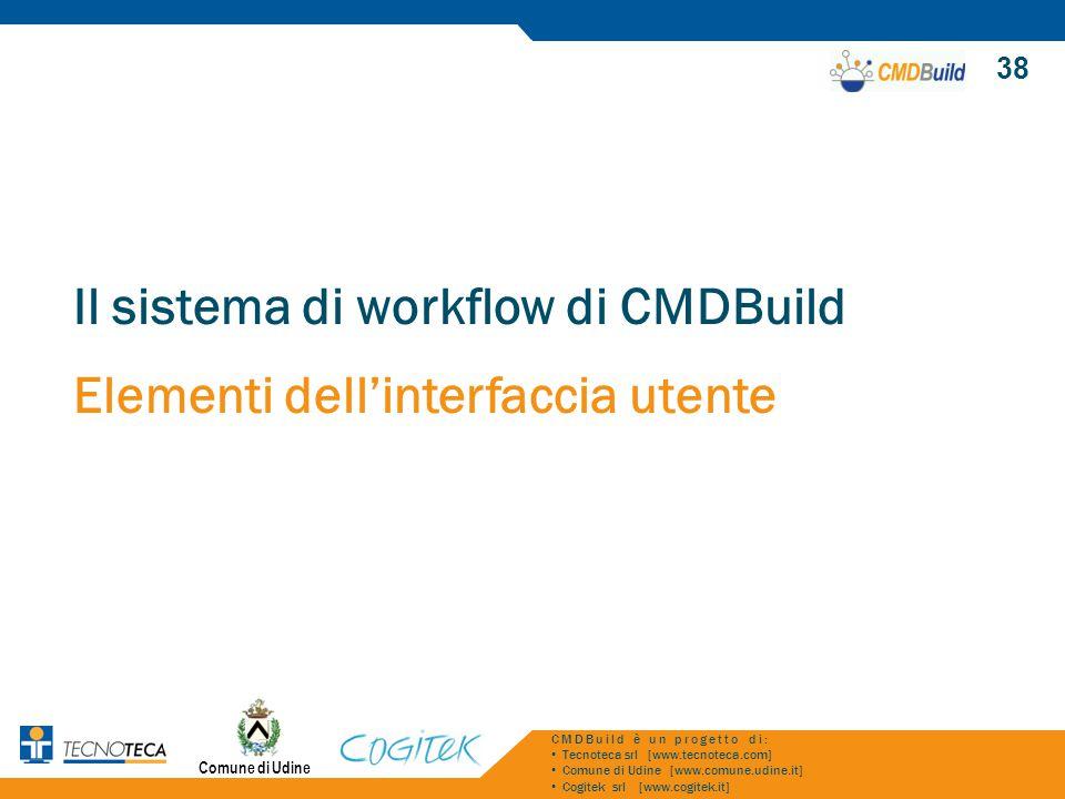 Il sistema di workflow di CMDBuild Elementi dell'interfaccia utente