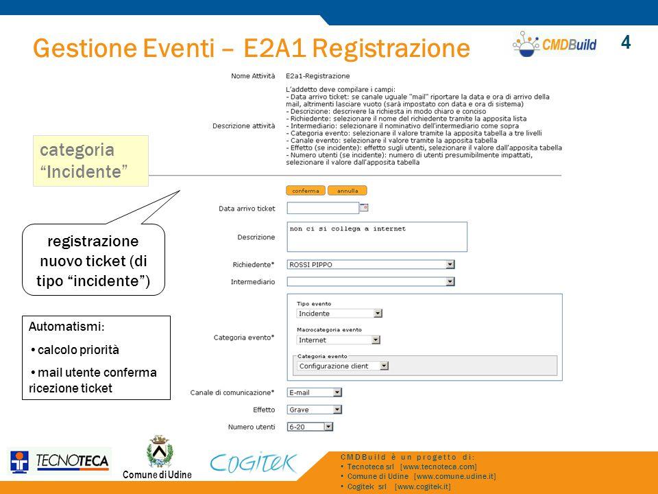 registrazione nuovo ticket (di tipo incidente )