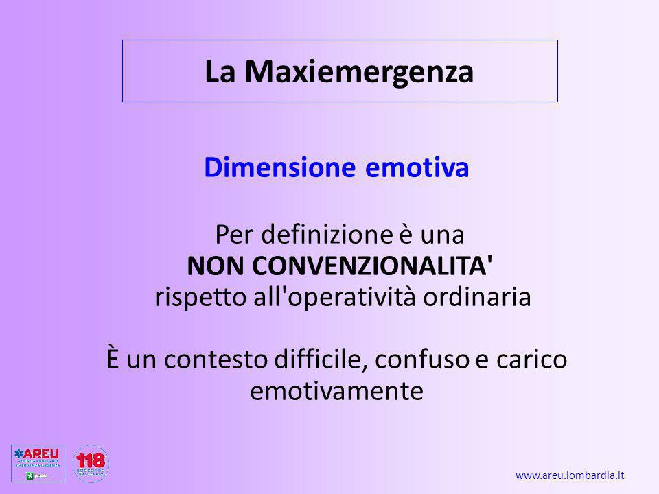 La Maxiemergenza Dimensione emotiva Per definizione è una