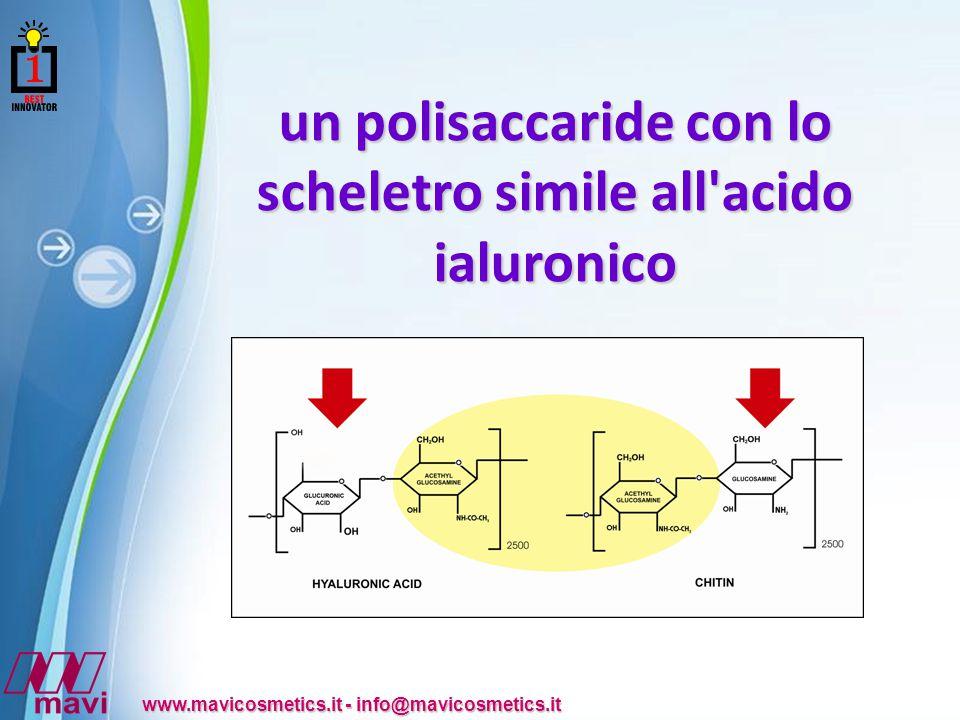 un polisaccaride con lo scheletro simile all acido