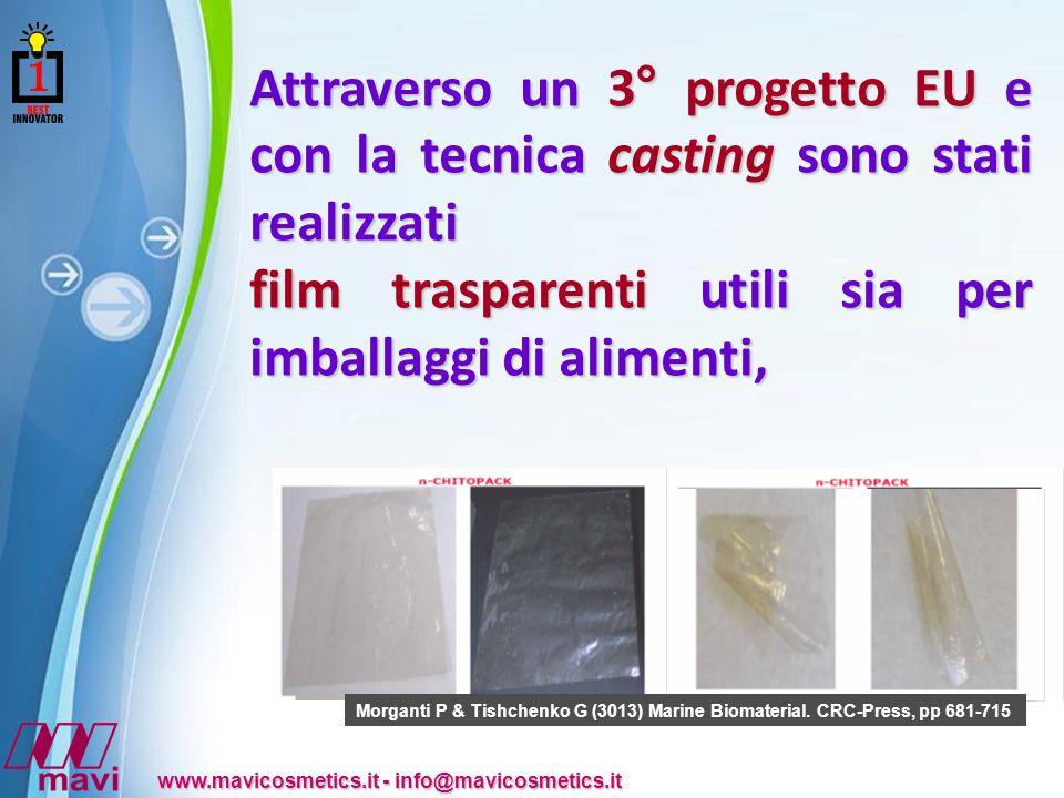 film trasparenti utili sia per imballaggi di alimenti,