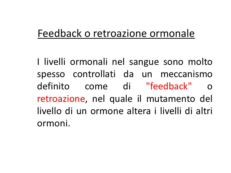 Feedback o retroazione ormonale