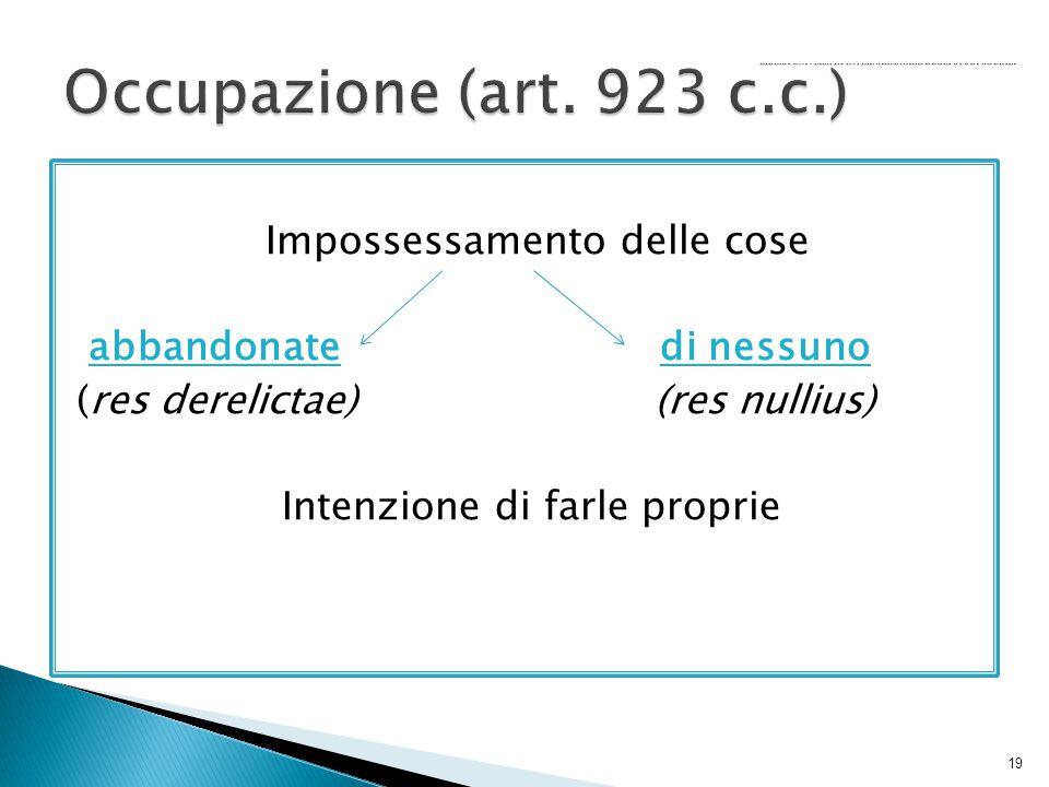 Occupazione (art.