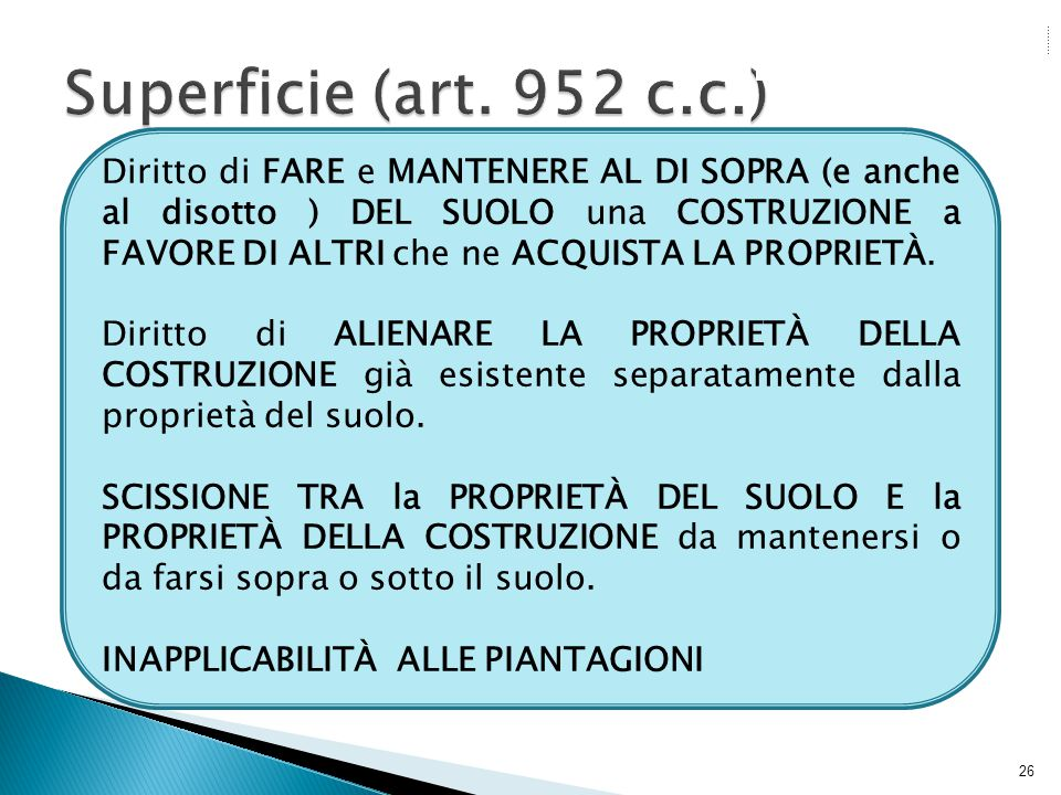 Superficie (art. 952 c.c.)