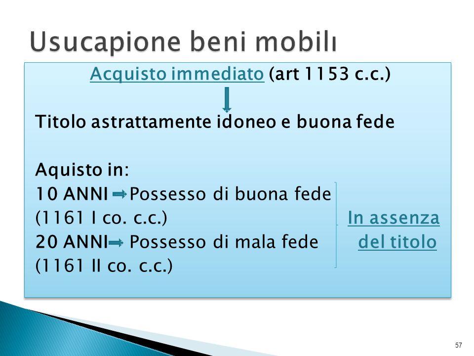 Usucapione beni mobili