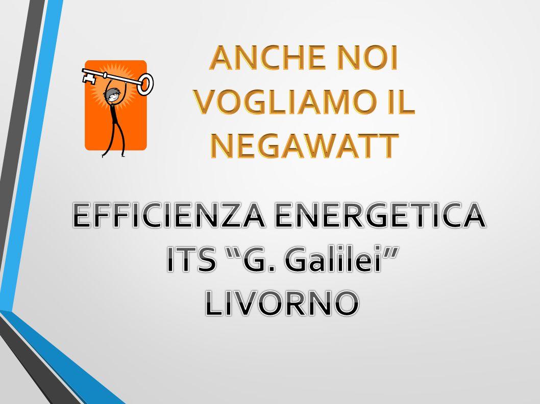 ANCHE NOI VOGLIAMO IL NEGAWATT EFFICIENZA ENERGETICA
