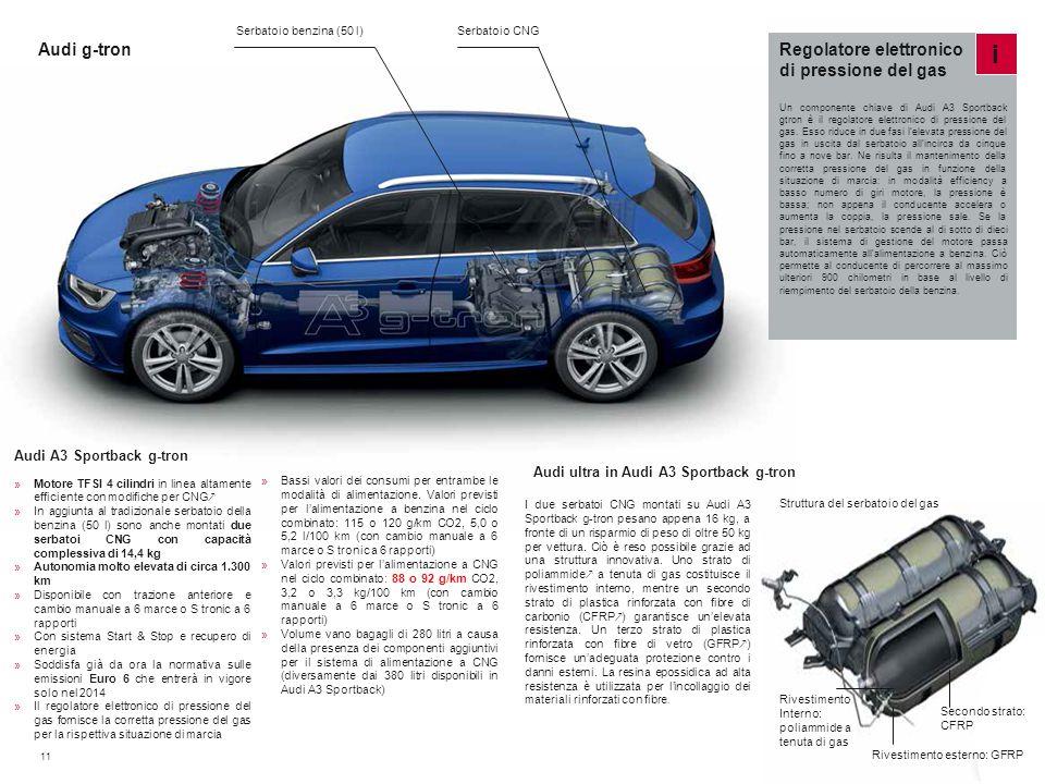 i Audi g-tron Regolatore elettronico di pressione del gas