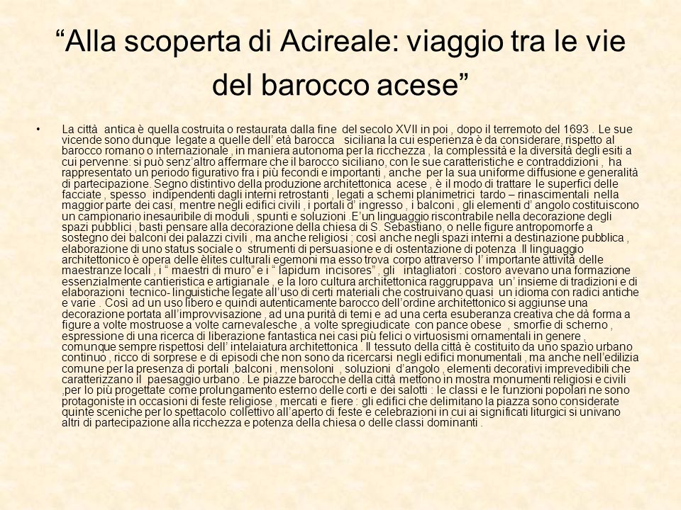 Alla scoperta di Acireale: viaggio tra le vie del barocco acese