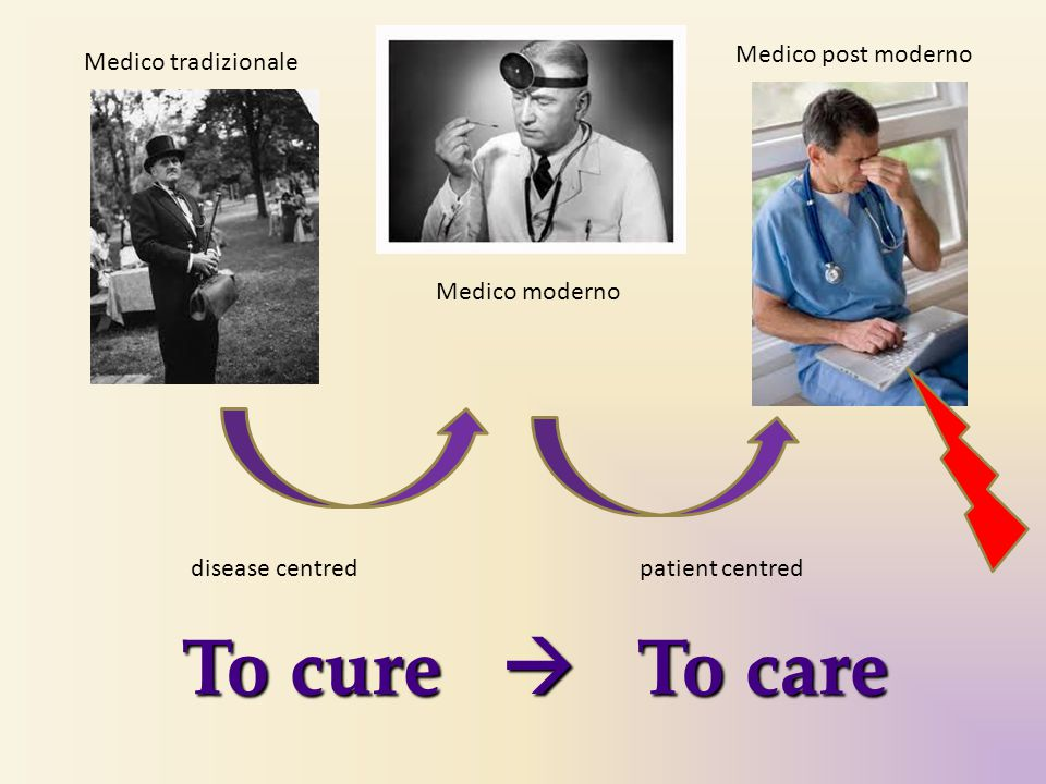 To cure  To care Medico post moderno Medico tradizionale