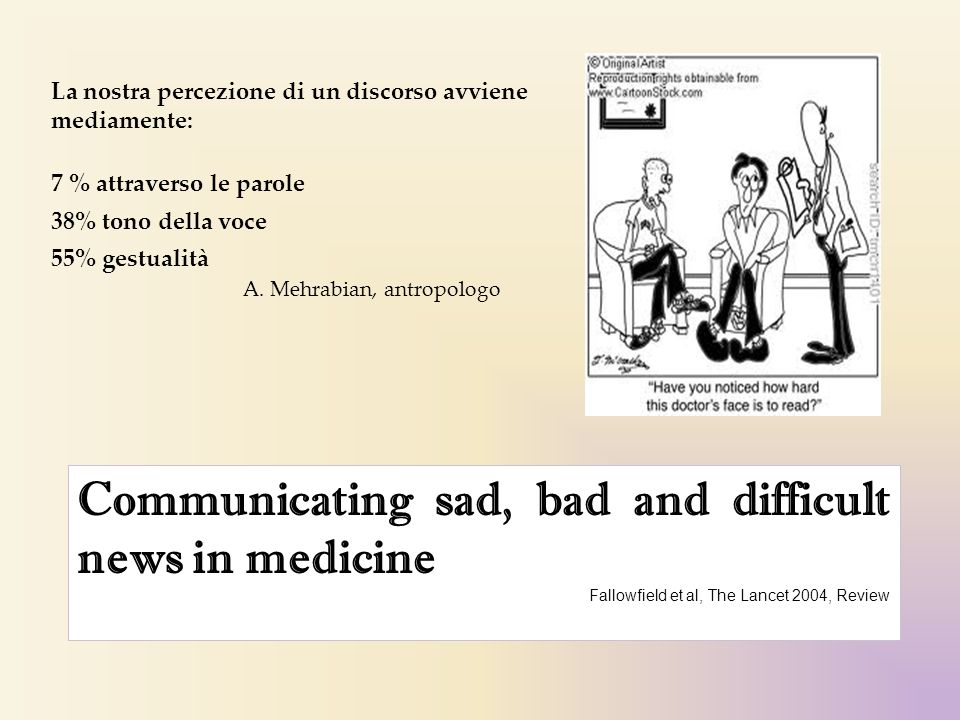 Communicating sad, bad and difficult news in medicine
