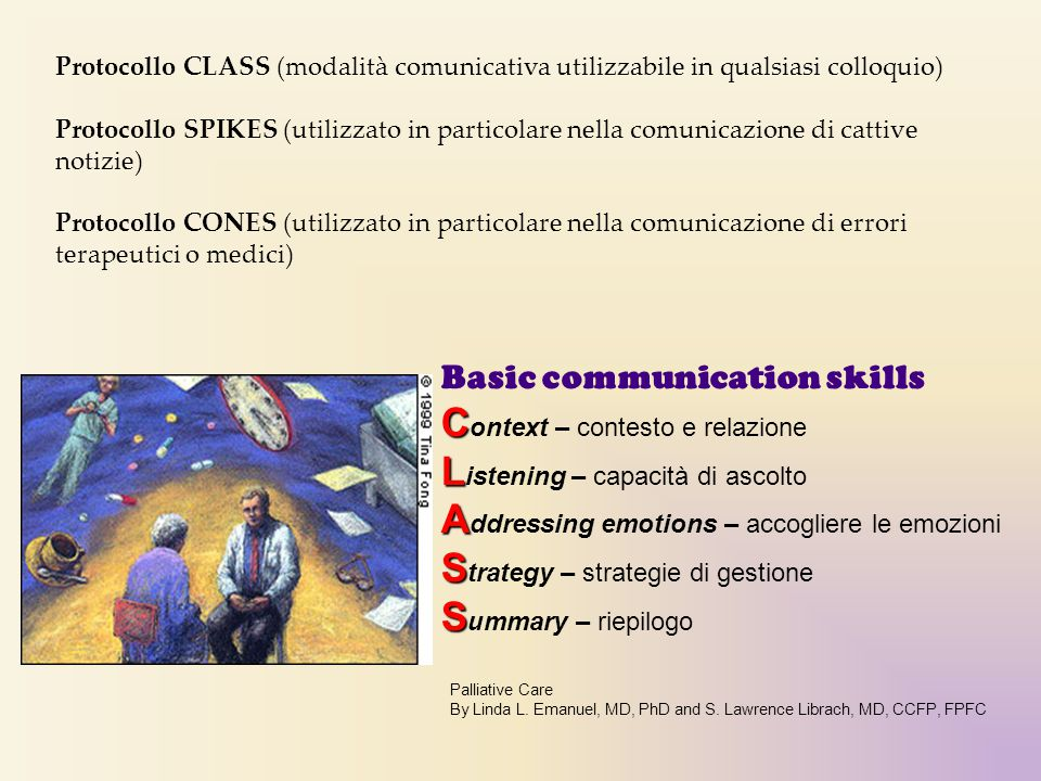 Context – contesto e relazione Listening – capacità di ascolto