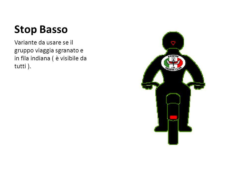 Stop Basso Variante da usare se il gruppo viaggia sgranato e in fila indiana ( è visibile da tutti ).