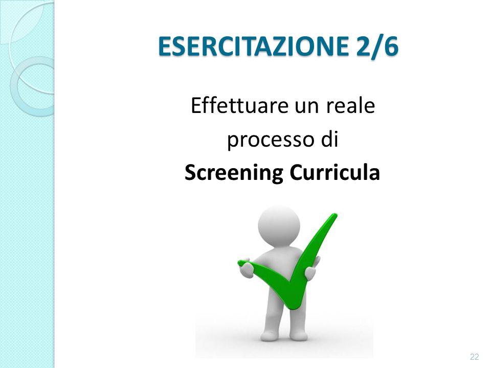 Effettuare un reale processo di Screening Curricula